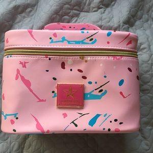 Jeffree Star pink Jawbreaker travel makeup bag